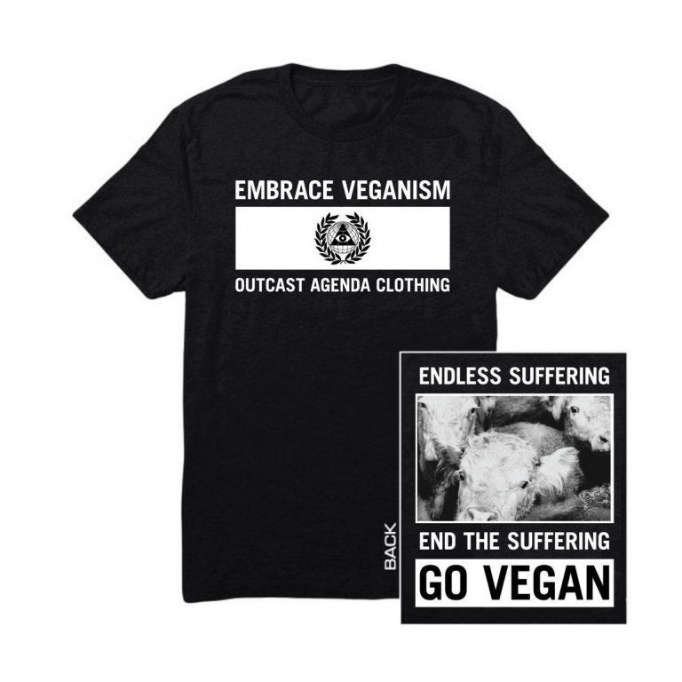Outcast Agenda Embrace Veganism Tee